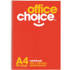OFFICE CHOICE SPIRAL NOTEBOOK A4 120 Page Side Bound