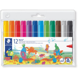 NORIS MARKER COLOURING 340 Jumbo Assorted Wallet of 12