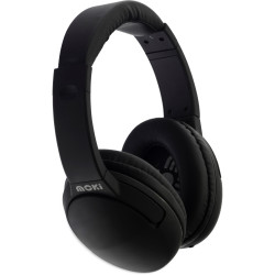Moki Nero Headphones With Mic Black